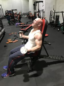 Bicep curls for Andrew